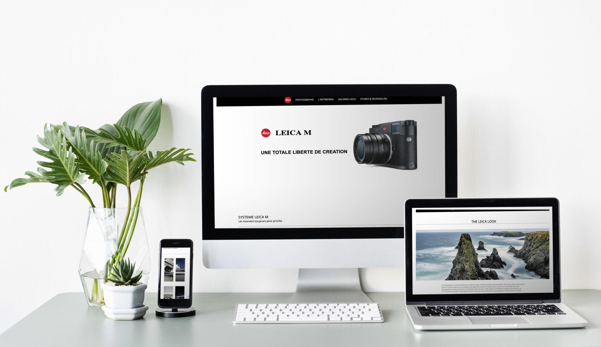 Travail d'inspiration en html/css sur le matériel Leica  https://www.etiennedeleplanque.fr/leica/