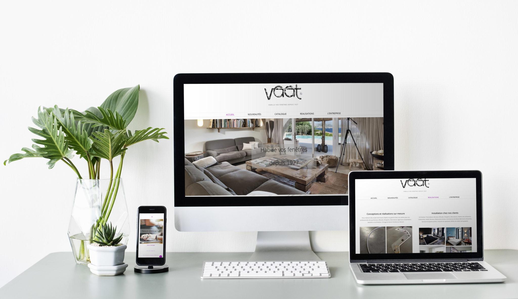 Site vitrine pour l'entreprise Vaat sur wordpress https://vaat.net